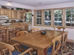 Open dining room between kitchen and great room is perfect for family gathering