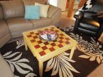 Chess & Checkers Coffee Table