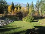 There are gorgeous mountain views from the south facing hot-tub deck