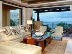 Living area opens completely to balcony