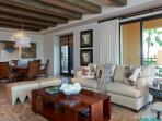 Clear sight-lines and natural beamed ceilings