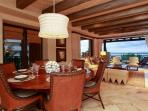Open dining area with ample seating for six
