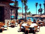 Beautiful resort open-air dining
