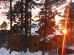 Cabin front in the winter