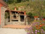 traditional tuscan stone made oven
