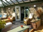 Conservatory in private courtyard