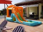 Giant Inflatable Bouncy Castle With Water Slide