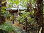 Enchanted Rainforest Cottages, near park entrance