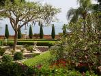Inside the Baha'i Gardens