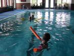 Large Indoor Swimming Pool in lodge building