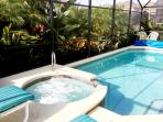 Pool-Spa with solar and electric heat pump--a hybrid system that is good for guests and our environment and Heat Pump...