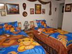 Lion King-themed Bedroom with 2 Twin Beds--both with added Visco, PS3, LED HDTV and DVD Player