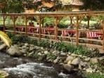 Valle Escondido - river side restaurant for breakfast & lunch