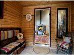 An enclosed entry porch