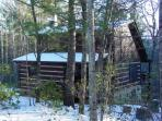 Mountain Laurel Cabin - December 2010 Snow