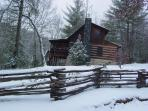 Mountain Laurel Cabin - January 2011 Snow