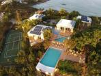 8 bedrooms, 4 pools, 2 hot tubs and a tennis court