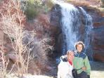 Us at Faux Falls near Ken's Lake- ~3 miles from Rim Village Vistas