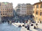 In Piazza di Spagna, you find the Barcaccia fountain, the ugly boat!