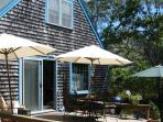 Deck with Umbrellas and Summer Furniiture