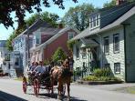 Carriage rides through town