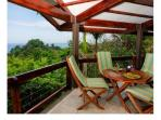 Balcony with outdoor dining