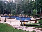 38 x 44 Freeform Pool with Waterfall