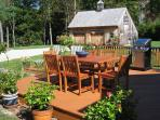 Haven Homeplace Carriage House/Garage, Deck, Dining and Barbeque
