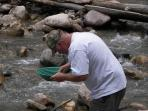 Gold panning in local rivers/streams