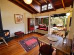 Back dining/sitting room opens onto a beautiful Mediterranean courtyard