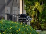 Our gas grill just outside the pool area to cook your steaks or fish.