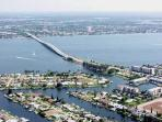 A view of Cape Coral from the air.