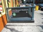 Subway one block to lexington  and 4 blocks 11 6