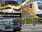 Coquitlam- Vancouver, drive, take West Coast Express, Bus, Skytrain