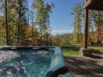 Enjoy this lovely view from the hot tub