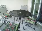 Balcony Patio with table and chairs