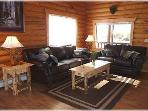 The living area at Cabin