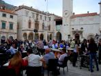Enjoy the music at various locations around Dubrovnik Old Town
