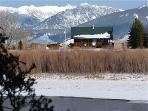 A winter view from across the river