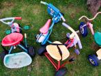 Trikes in outdoor play area
