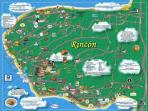 Map of Rincon, Puerto Rico.... something for everyone...