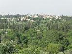 Afra Village nestling in the hills