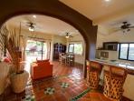Casita - Kitchen, Bar & Living Area