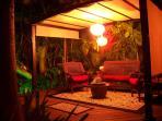 Garden area Deck at Night