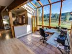 Office and Breakfast Nook have Incredible Views of Gothic and The Ski Area.