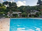 Large pool with quality lounges, chairs and tables. Perfect for quiet afternoon enjoyment.