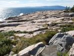 The rockbound coast of Down East Maine.  Near Schoodic Point. Great place for picnics.