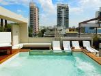 Rooftop patio with plunge pool