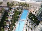 Looking Down to Pool/Beach Area