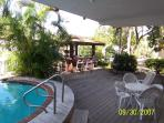 pool deck with chiki view